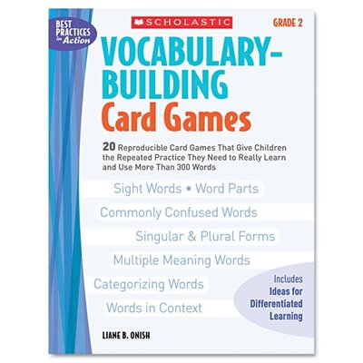 Vocabulary Building Card Games, Grade Two Book by Scholastic