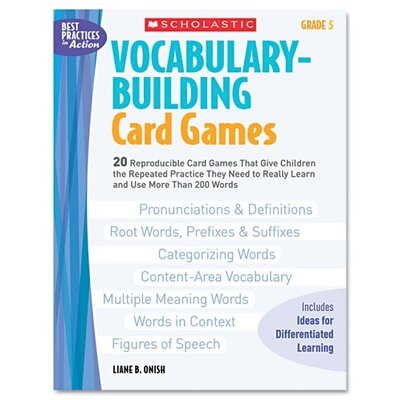 Vocabulary Building Card Games, Grade Five Book by Scholastic