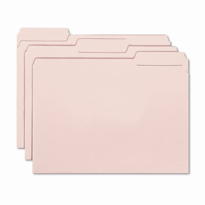 Smead Manufacturing Company Interior File Folders, 1/3 Cut Top Tab, 100/Box