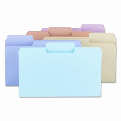Smead Manufacturing Company SuperTab File Folders, 1/3 Cut, Top Tab, Legal, Assorted Colors, 100/Box