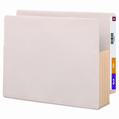 """Smead Manufacturing Company 3.5"""" Accordion Expansion End Tab File Pockets with Tyvek, 10/Box"""