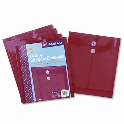 Smead Manufacturing Company Poly String & Button Envelope, 5/Pack