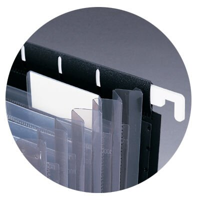 """Smead Manufacturing Company Hanging Portable Expanding File, 11-7/8""""x9-1/4"""", Black"""