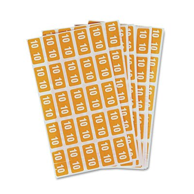 Smead Manufacturing Company Year 2010 End Tab Folder Labels, 1 x 1/2, Yellow, 250/Pack