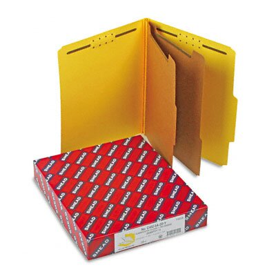 Smead Manufacturing Company Six-Section Pressboard Classification Folders, Letter, 10/Box