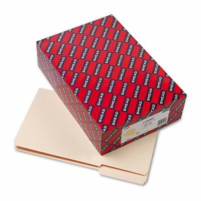 """Smead Manufacturing Company Heavyweight File Folders, 1/3 Cut, Top Tab, 1 1/2"""" Expansion, Legal, MLA, 50/Bx"""