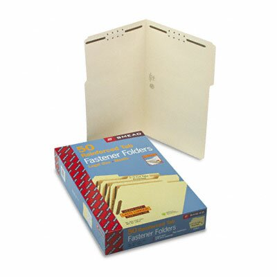 Smead Manufacturing Company Two Fasteners 1/3 Cut Assorted Top Tab Folder, 50/Box