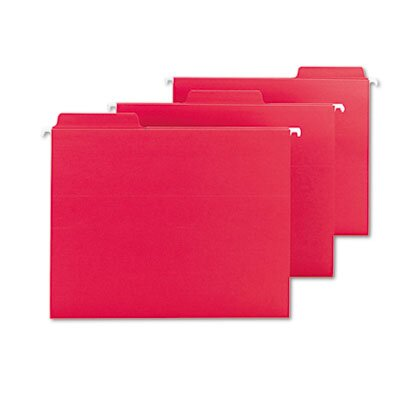 Smead Manufacturing Company FasTab Hanging File Folders, Letter, Red (Box of 20)
