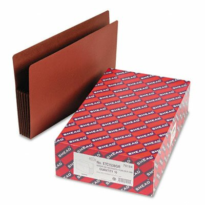 """Smead Manufacturing Company 5.25"""" Accordion Expansion Drop Front File Pockets, 10/Box"""