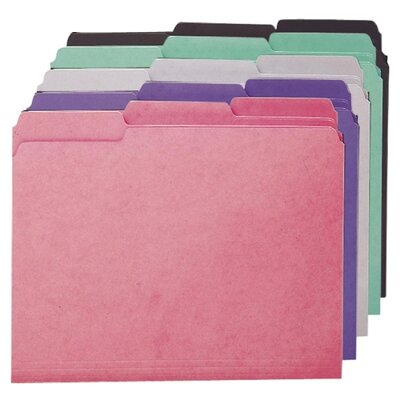 Smead Manufacturing Company Interior Folders, 1/3 Ast. Tabs, Letter, 100 per Box, Assorted