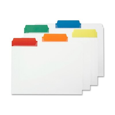 """Smead Manufacturing Company File Folder, Letter, 1/3"""", Poly Color Tabs, 25 per Box, Assorted"""