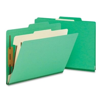 Smead Manufacturing Company One Divider Top Tab Classification Folder, Four-Section, 10/Box