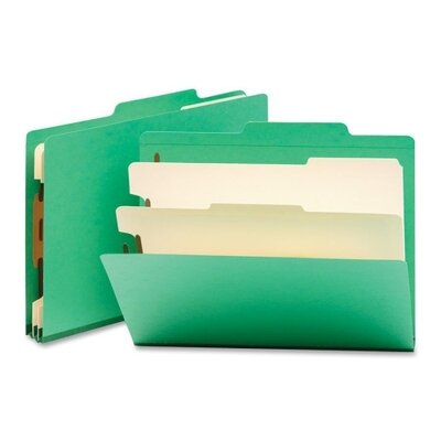 Smead Manufacturing Company Classification Top Tab Folders, 10/Box