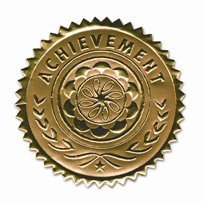 "Southworth Company Certificate Seals ""Achievement"" Embossed Foil, 12/Pack"