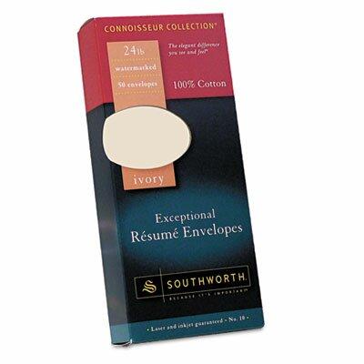Southworth Company 100% Cotton #10 Resume Envelope, 50/Box