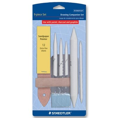 """Staedtler, Inc. Drawing Companion Set,w/Eraser/3 Stamps/3""""x3"""" Chamoi"""