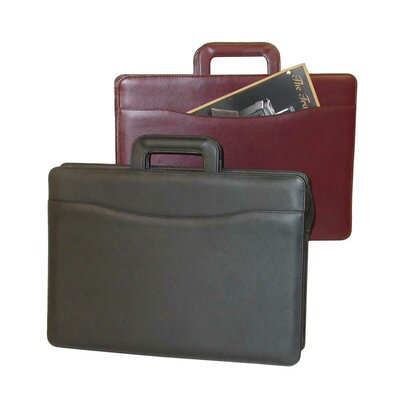 Stebco Sliding Handle Leather Briefcase