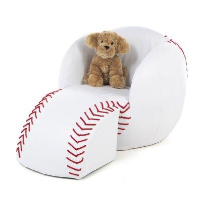Gift Mark Novelty Kid's Baseball Chair & Ottoman Set