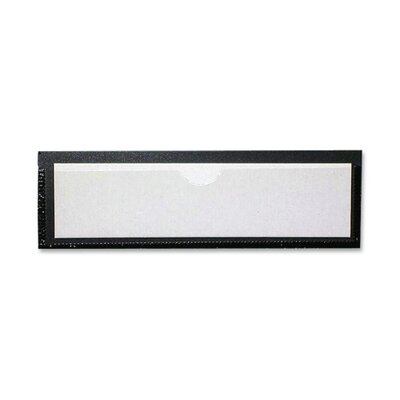 "Tatco Magnetic Label Holder,1-1/4""x4-3/8"",Inserts 1""x4"",10/PK"