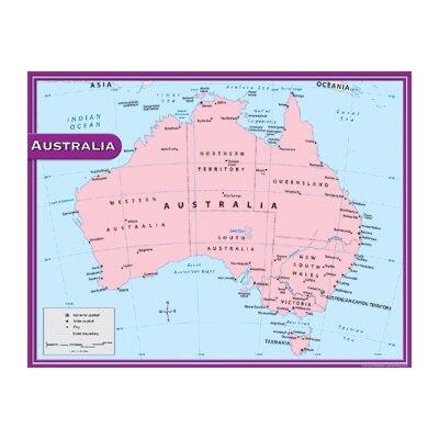 Teacher Created Resources Australia Map Chart 17x22