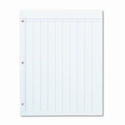 Tops Business Forms Data Pad w/Numbered Column Headings, Wide Rule, Letter, White, 50 Sheets