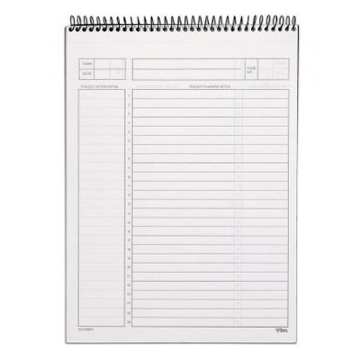 "Tops Business Forms Wirebound Planning Pad, 8-1/2""x11-3/4"", 50 Sheets, White"