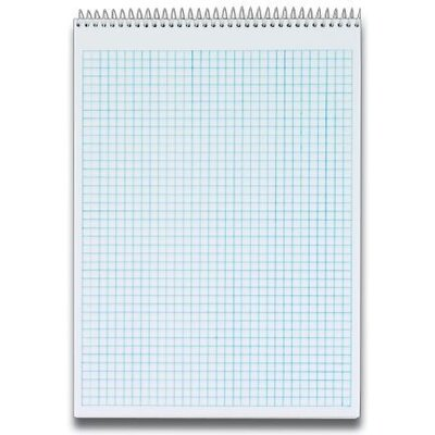 """Tops Business Forms Quadrille Pad, 8-1/2""""x11-3/4"""", 70 Sheets, 4 Squares Per Inch, White"""
