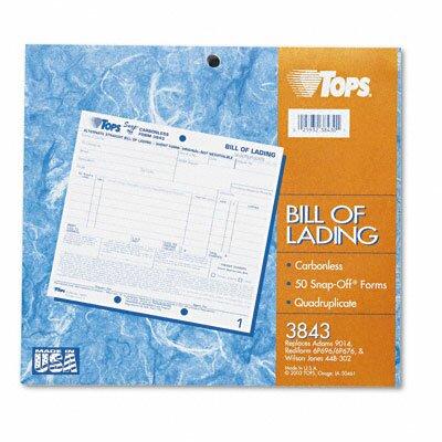 Tops Business Forms Hazardous Material Short Form, Four-Part Carbonless, 50 Forms