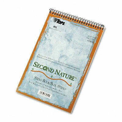 Tops Business Forms Second Nature Spiral Reporter / Steno Notebook, 70-Sheet