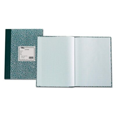 "Tops Business Forms Lab Notebook, 10""x7-3/8"", 60 Sheets, Green Marble"