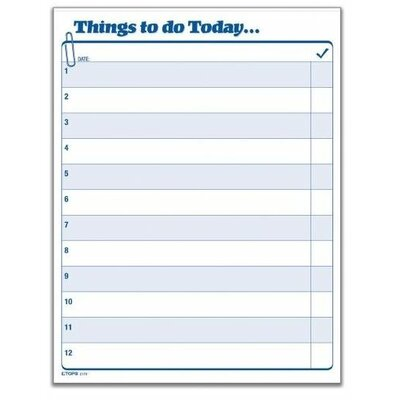 Tops Business Forms Things To Do Today Daily Agenda Pad, 100 Forms