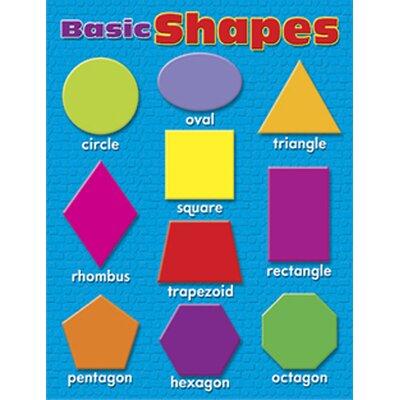 Trend Enterprises Learning Charts Basic Shapes Tool