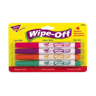 Trend Enterprises Wipe Off Marker 4 New Colors