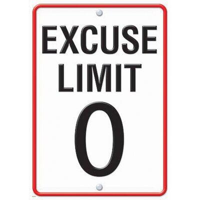 Trend Enterprises Excuse Limit 0 Lp Large Poster