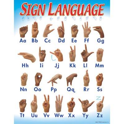 Trend Enterprises Sign Language Chart