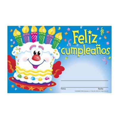 Trend Enterprises Feliz Cumpleanos Pastel Award