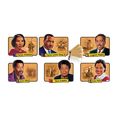 Trend Enterprises Bb African-american Achievers Bulletin Board Cut Out Set