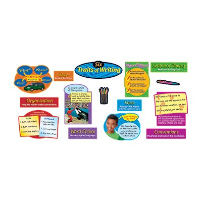 Trend Enterprises Six Traits Of Writing Bulletin Board Cut Out