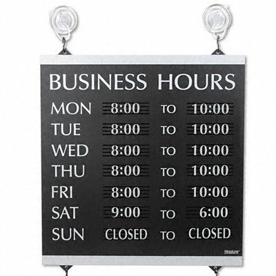 U.S. Stamp & Sign Headline Sign Century Series Business Hours Sign