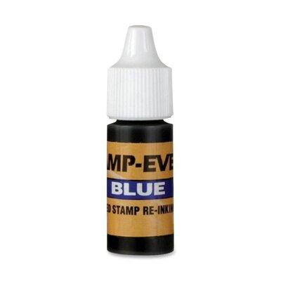 U.S. Stamp & Sign Refill Ink, 7 ml, Plastic Bottle, Blue