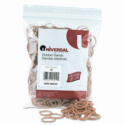 Universal® Rubber Bands, Size 10, 1/8 x 1-1/4,  935 per 1/4lb Box