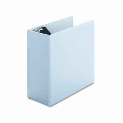 Universal® Economy D-Ring Vinyl View Binder, 5in Capacity