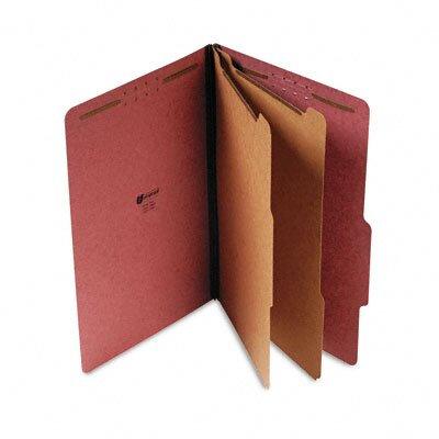 Universal® Pressboard Classification Folder, Legal, Six-Section, 10/Box