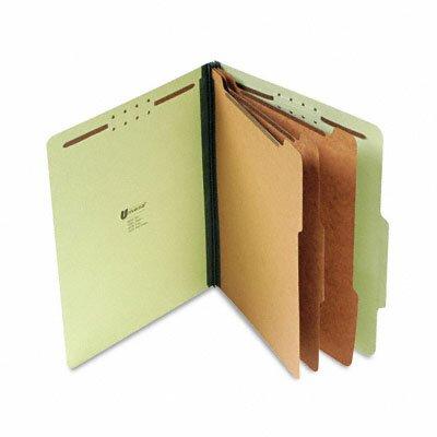 Universal® Pressboard Classification Folder, Letter, Eight-Section, 10/Box