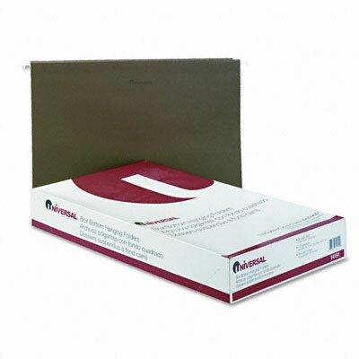 Universal® One Inch Box Bottom Pressboard Hanging Folder, 25/Box