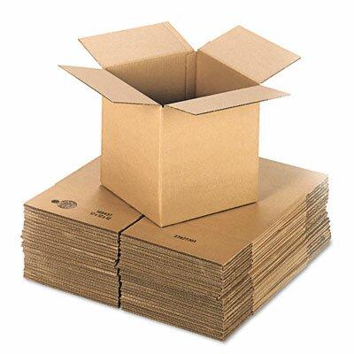"Universal® Corrugated Kraft Fixed-Depth Shipping Carton, 25/Bundle (24"" H x 24"" W x 9"" D)"