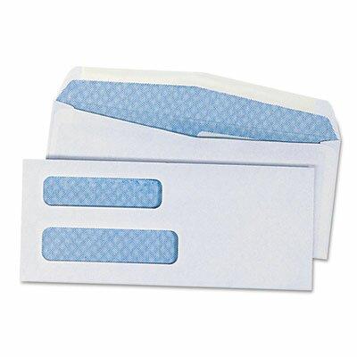 Universal® Double Window Business Envelope, #8.63, 500/Box