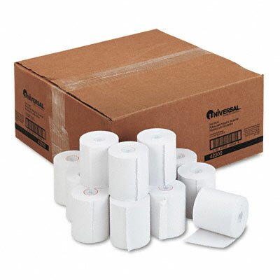 Universal® 1-Ply Cash Register/Point Of Sale Roll, 50/Carton