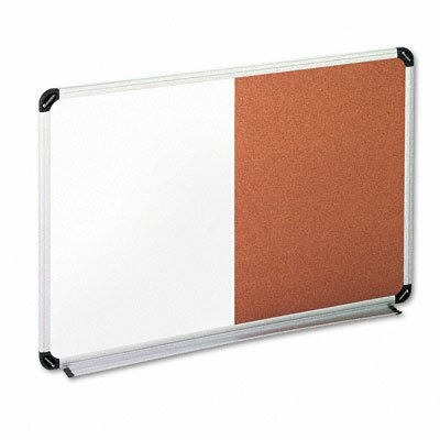 Universal® Universal Dry Erase Wall Mounted Combination Whiteboard