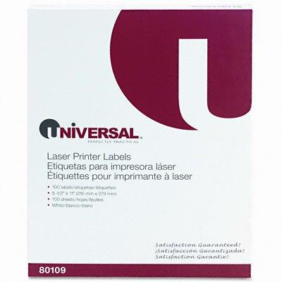 Universal® Laser Printer Permanent Labels, 100/Box